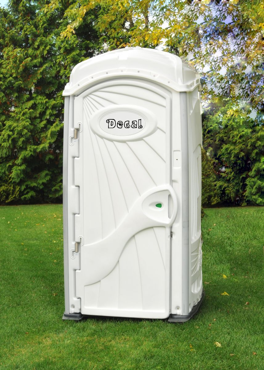 White deluxe portable restrooms china top rotomolding for Deluxe portable bathrooms
